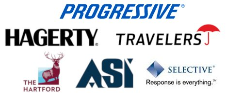 Progressive, Hagerty, Travelers, The Hartford, ASI, Selective