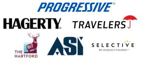 Progressive, Hagerty, Travelers, The Hartford, ASI, Selective